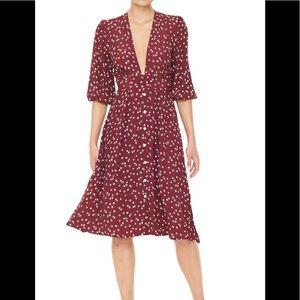 Faithfull the Brand Chloe midi dress NWT